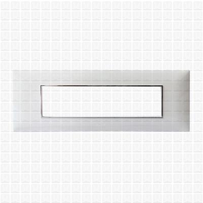 Fybros Favio White Modular Plate 8M Horizontal