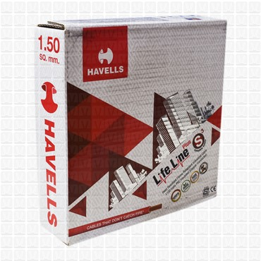 HAVELLS 1.5 mm Wire Red Life Line (90 Mtr./Bundle)