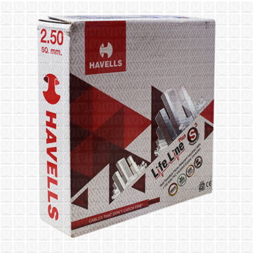 HAVELLS 2.5 mm Wire Red Life Line (90 Mtr./Bundle)