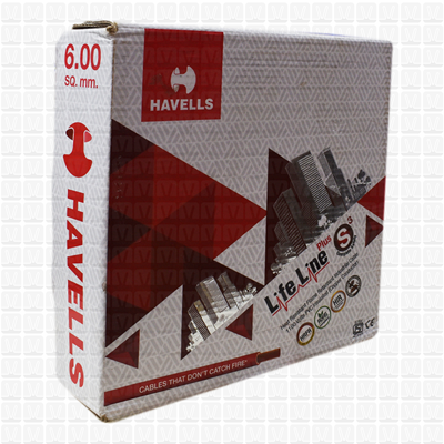 HAVELLS 6.0 mm Wire Red Life Line (90 Mtr./Bundle)