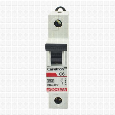 Caretron 06 Amp Single Pole MCB