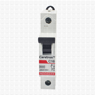Caretron 16 Amp Single Pole MCB