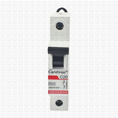 Caretron 20 Amp Single Pole MCB