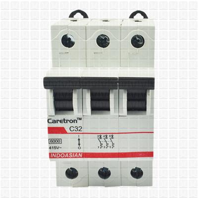 Caretron 32 Amp Three Pole MCB