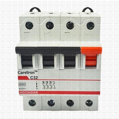 Caretron 32 Amp Four Pole MCB