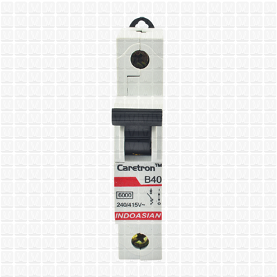 Caretron 40 Amp Single Pole MCB