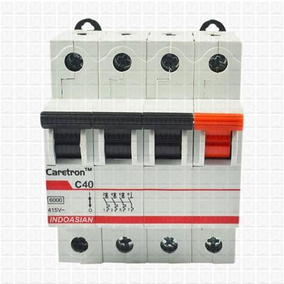 Caretron 40 Amp Four Pole MCB