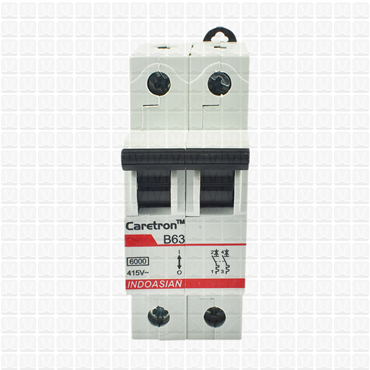 Caretron 63 Amp Double Pole MCB