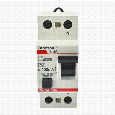Caretron 63 Amp Double Pole 100 mA RCCB