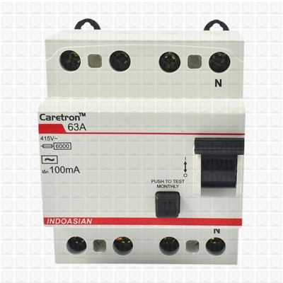 Caretron 63 Amp Four Pole 300 mA RCCB