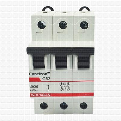 Caretron 63 Amp Three Pole MCB