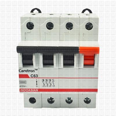 Caretron 63 Amp Four Pole MCB