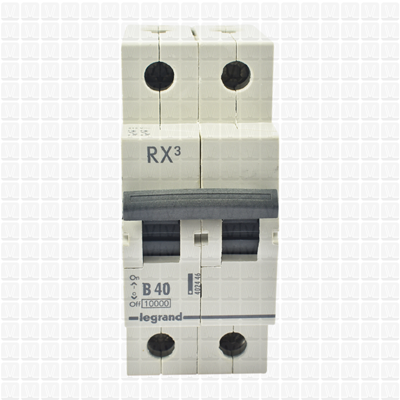 Legrand RX3 40 Amp Double Pole MCB