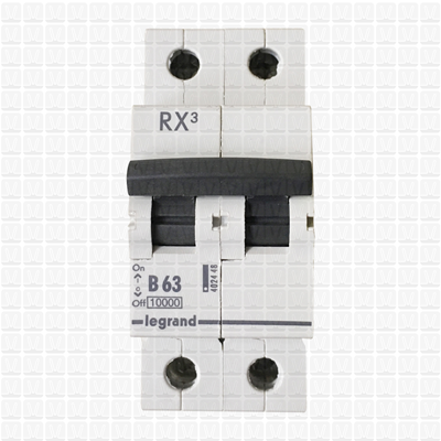 Legrand RX3 63 Amp Double Pole MCB