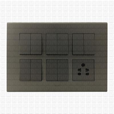 Simon S38 Grey Modular Plate 12M