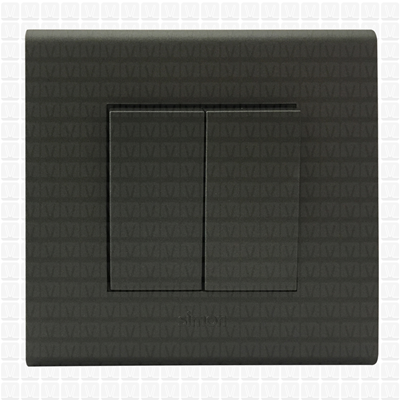 Simon S38 Grey Modular Plate 2M