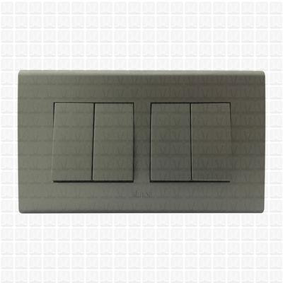 Simon S38 Grey Modular Plate 4M