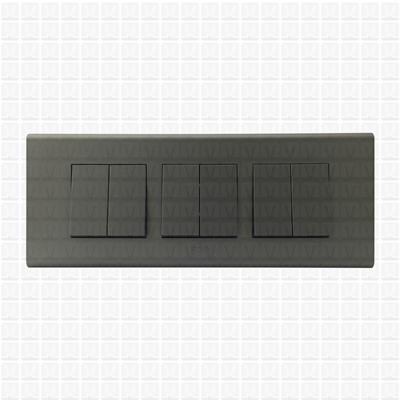 Simon S38 Grey Modular Plate 6M