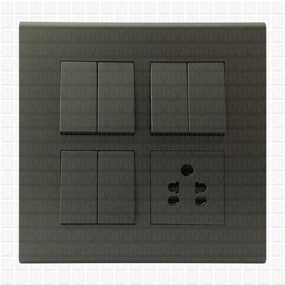 Simon S38 Grey Modular Plate 8M