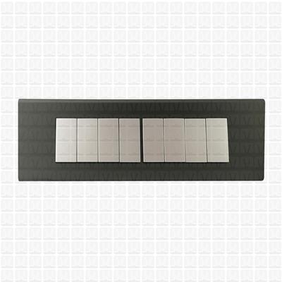 Simon S38 Silver Modular Plate 8M Horizontal