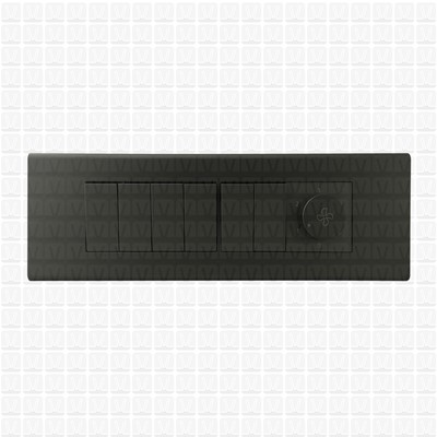 Simon S38 Grey Modular Plate 8M Horizontal