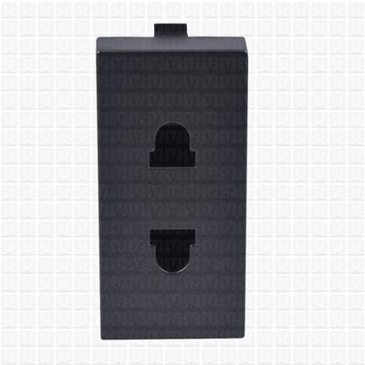 Simon S38 Graphite 2-Pin Socket