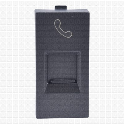 Simon S38 Graphite Telephone Socket