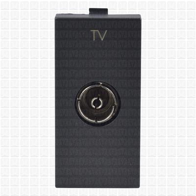 Simon S38 Graphite T.V. Socket