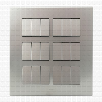Simon S38 Silver Modular Plate 18M