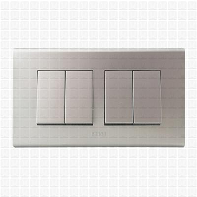 Simon S38 Silver Modular Plate 4M