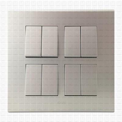 Simon S38 Silver Modular Plate 8M