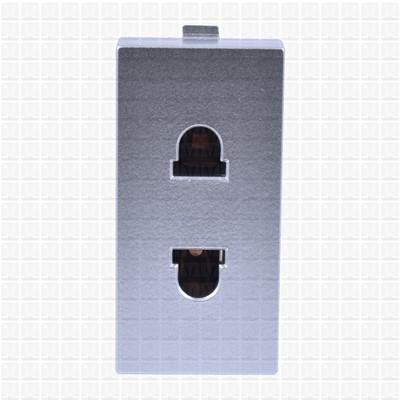 Simon S38 Silver 2-Pin Socket