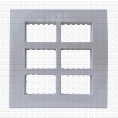 Simon S38 White Modular Plate 18M