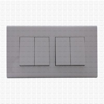 Simon S38 White Modular Plate 4M