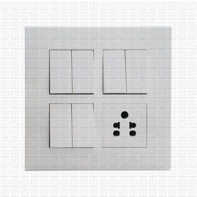 Simon S38 White Modular Plate 8M