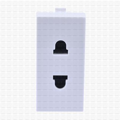 Simon S38 White 2-Pin Socket
