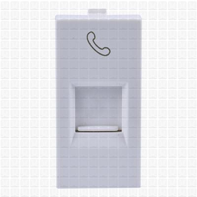 Simon S38 White Telephone Socket