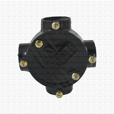 T-point Cast Iron Junction Box 25 MM