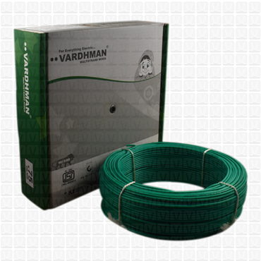 VARDHMAN 0.75 mm Wire Green (90 Mtr./Bundle)