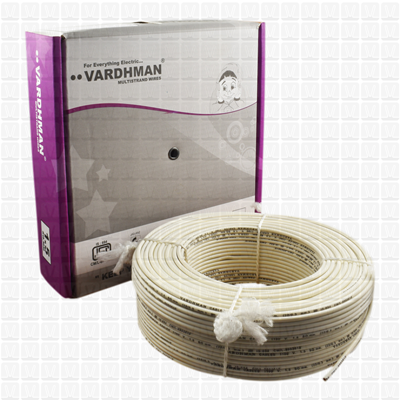 VARDHMAN 1.5 mm Wire White (90 Mtr./Bundle)