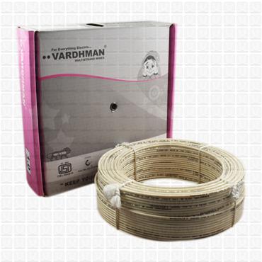 VARDHMAN 1.0 mm Wire White (90 Mtr./Bundle)