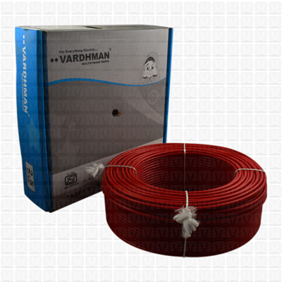 VARDHMAN 2.5 mm Wire Red (90 Mtr./Bundle)