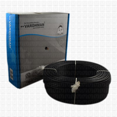 VARDHMAN 2.5 mm Wire Black (90 Mtr./Bundle)