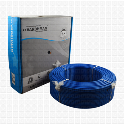 VARDHMAN 2.5 mm Wire Blue (90 Mtr./Bundle)