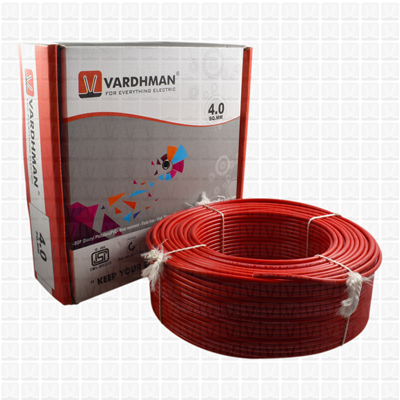 VARDHMAN 4.0 mm Wire Red (90 Mtr./Bundle)