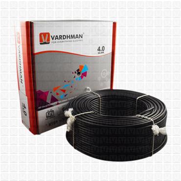 VARDHMAN 4.0 mm Wire Black (90 Mtr./Bundle)
