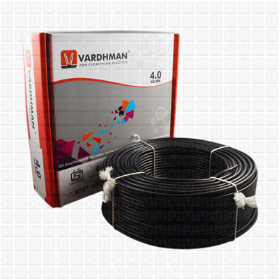 VARDHMAN 4.0 mm Wire Black (90 Mtr./Bundle)