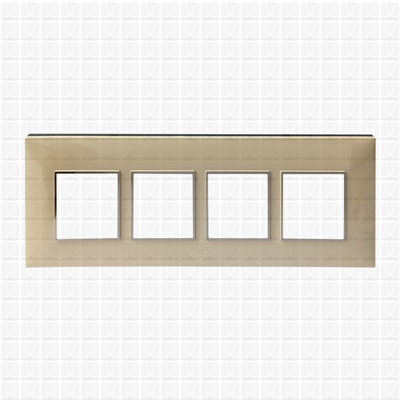 Fybros Favio Ivory Modular Plate 8M Horizontal