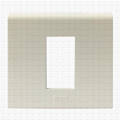 Simon S38 White Modular Plate 1M
