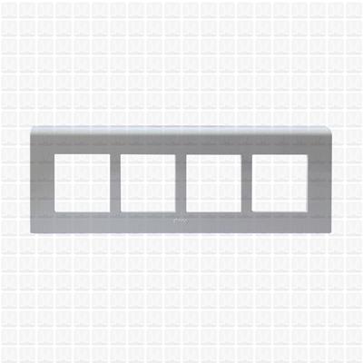Simon S38 White Modular Plate 8M Horizontal